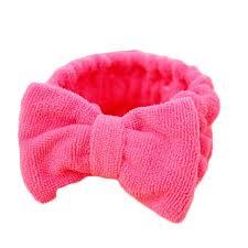 hair holder fashion women beauty makeup bow headband bath wash hairdo