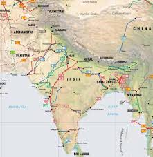 Asia Geography Map South Asia Pipelines Map Crude Oil Petroleum Pipelines