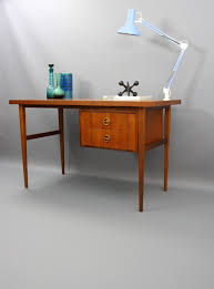 Danish Modern Teak Desk by Parker Furniture Australia Mid Century Teak Desk Retro Vintage