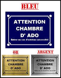 plaque pour porte de chambre plaque de rue attention chambre d ado signalétique plaque de rue