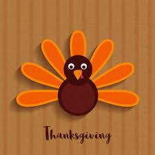 turkey bird on brown background for happy thanksgiving day