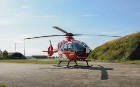 Karlsruhe Baden Baden Drei Hubschrauber Des Typs H 135 Gehen Zur Drf Luftrettung Drf