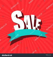 sale banner poster leaflet blank ribbon stock vector 461750806