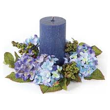 blue flower candle wreaths wedding the wedding specialiststhe