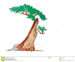 half tree stock vector image of creativity semi 23642113