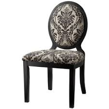 morris oval back dining chair set of 2 black damask polyvore