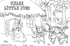 cool opulent 3 pigs coloring pigs pages