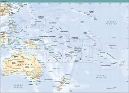 Oceania Map Oceania Oceania Physical Map