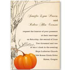 cheap fall wedding invitations cheap tree and pumpkin fall wedding invitation ewi241 as low as