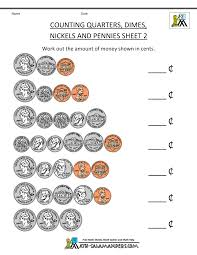 First Grade Math Worksheets Free Money Worksheets For Kids 2nd Grade