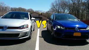 volkswagen gti blue 2017 golf gti vs golf r youtube