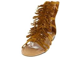 atta10 tan caged fringe gladiator boots from 12 88 27