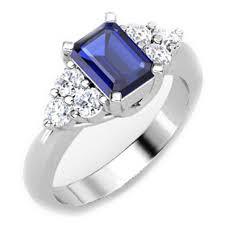 sapphire emerald cut engagement rings european engagement ring emerald cut blue sapphire and