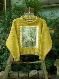 sweater house 1990 patched box sweater house on the hill marigold osfa