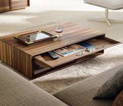furniture modern rectangular wooden unique coffee table ideas