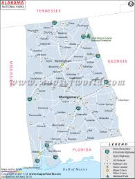 Map Of Utah Parks by National Parks In Alabama Alabama National Parks Map