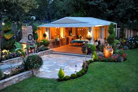 outdoor living cool stacked stone outdoor patio with small