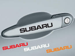 wrx subaru logo product 4 pcs subaru handle door decal sticker emblem logo