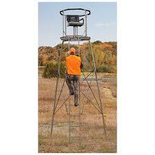 guide gear 15 woodsman rotating tripod deer stand 177511 tower