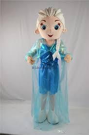 elsa mascot costume lovely blue aisha mascot costume high