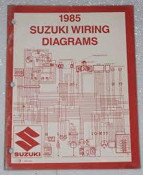 1985 suzuki motorcycle and atv electrical wiring diagrams manual