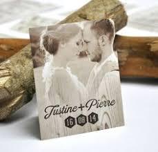 remerciement mariage original carte de remerciement vintage mariage kraft romantique