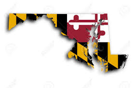 Map Of Maryland State by Map Of Maryland Filled With The State Flag Stock Photo Picture