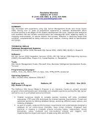 Sample Sql Dba Resume by Extraordinary Inspiration Sql Resume 16 Sql Dba Resume Sql Dba