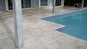 travertine pool deck coping pavers tampa award winning brick
