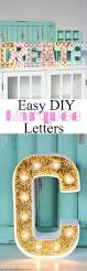 diy marquee letters a pumpkin and a princess