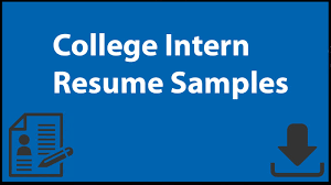 Internship Resume Sample For College Students College Intern Resume Samples Youtube