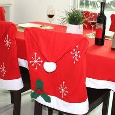 Christmas Chair Back Covers Christmas Dining Decoration Chair Slipcover Set Of 2 Christmas