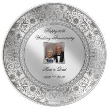 silver wedding plates wedding plates zazzle