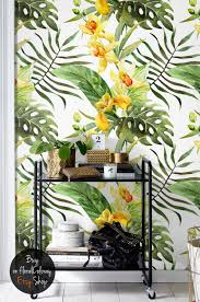 canna flowers temporary wallpaper tropical floral wall