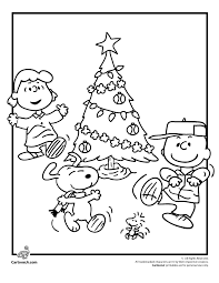 charlie brown christmas coloring pages peanuts gang christmas