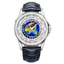 World Time Map Pre Owned Patek Philippe 5131g 001 World Time White Gold