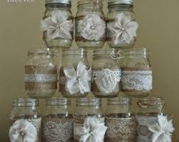 Rustic Mason Jar Centerpieces For Weddings by Mason Jar Wedding Etsy