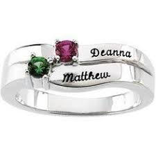 mothers ring band sterling silver birthstone personalized promise ring promise rings