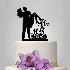 mr and mrs wedding cake topper with cat and topper with dog