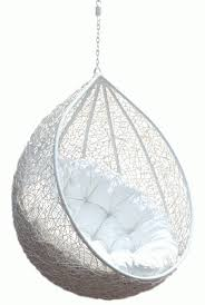 interior hanging chair rattan egg white half teardrop wicker