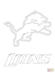 detroit lions logo coloring page free printable coloring pages