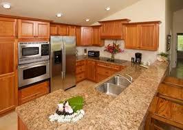 medium brown oak kitchen cabinets quartz countertops medium oak kitchen cabinets with