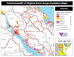 Richmond Zip Code Map by Hurricane Storm Surge Maps Virginia Department Of Emergency
