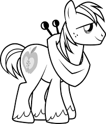 pony coloring pages kids spike