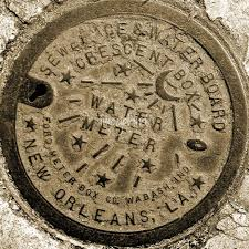 water meter new orleans new orleans water meter cover sepia by marquis
