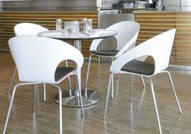 Modern Bistro Chairs Edge And White Cafe Tables 75cm Dia Lifestyle