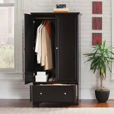 armoire wardrobe storage cabinet sauder palladia armoire multiple finishes walmart com