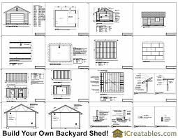 Storage Building Floor Plans 16x20 Garage Shed Plans Build A Shed With A Garage Door