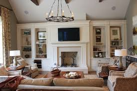 Ceiling Bookshelves by Living Room Built Ins Living Room Traditional With Vaulted Ceiling