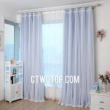Custom Blackout Drapes Baby Blue Blackout Custom Read Made Simple Lace Curtains With Rose